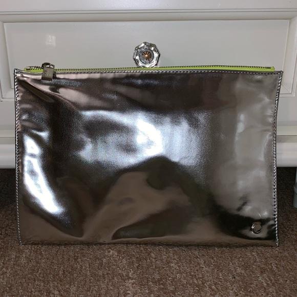 Deux Lux Handbags - •Deux Lux• Silver Mirrored Clutch (NWOT)